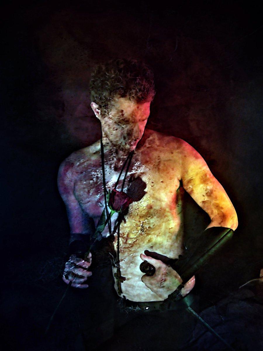 The Blood of the Lamb (The Phantasm Portraits)   Grey Cross Studios #portraits #photography #photographer #surrealism #surrealart #bodyart #bodypainting #portraitart