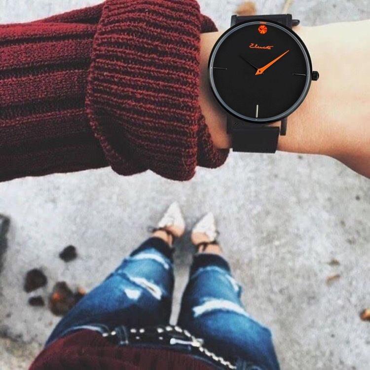 Orange is the happiest color 🧡 ⌚️Best Friend 36 Mesh  #elementswatches ⠀ #orange #style #fashion #watchesofinstagram #watchesoftwitter #wednesdaythought