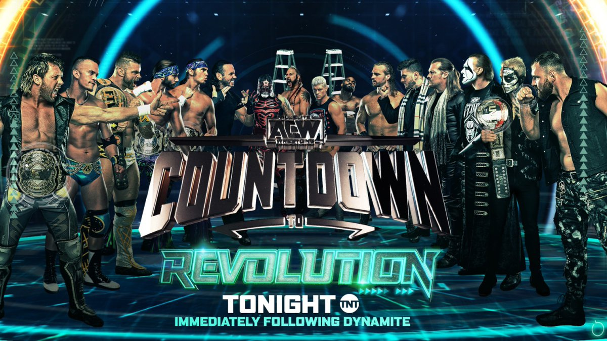 Revolution is almost upon us! Watch the countdown to #AEWRevolution immediately following tonight's episode of #AEWDynamite on TNT.