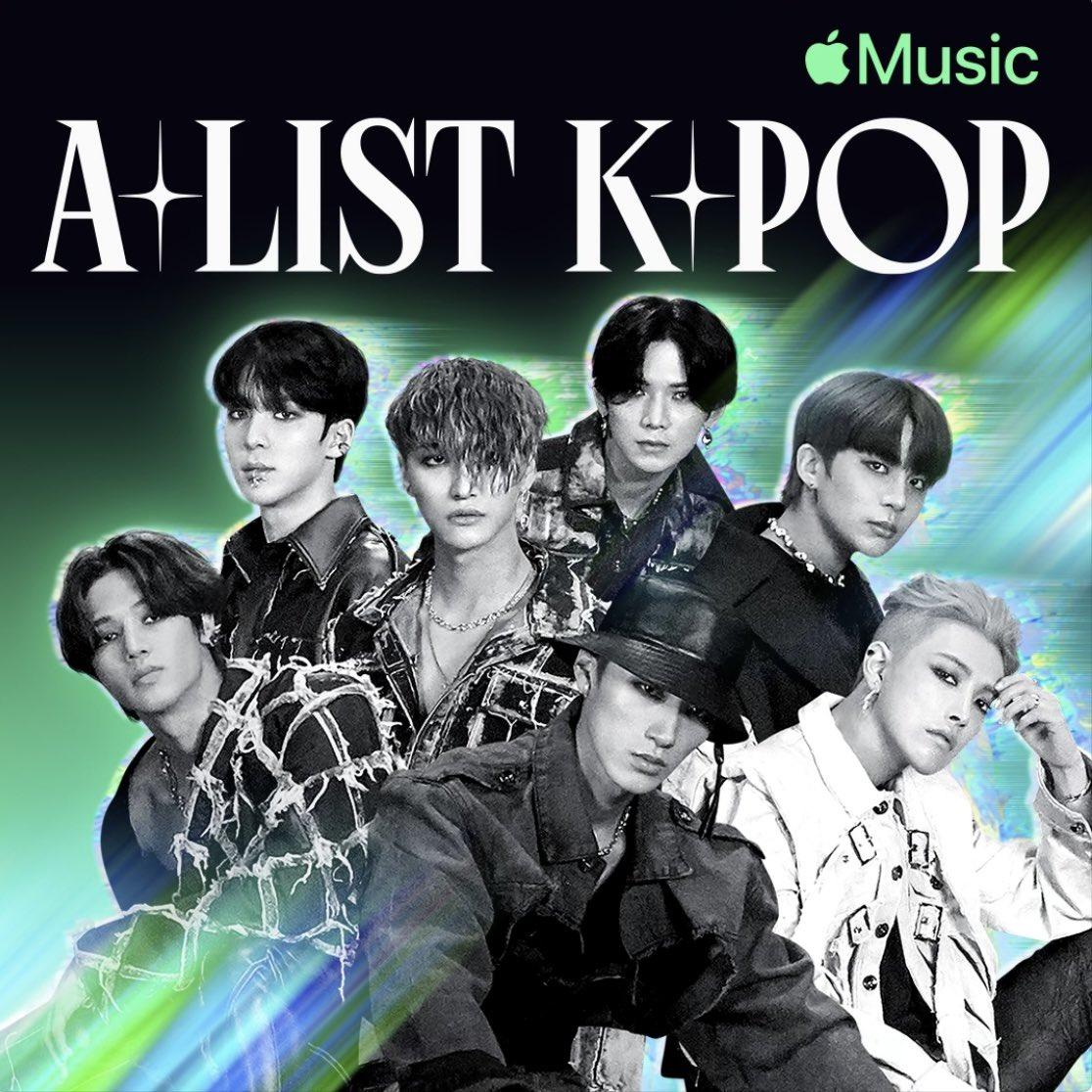 Apple Music 에디터가 엄선해 수시로 업데이트하는 K-Pop 인기곡 playlist   <A-List: K-Pop> 표지에 에이티즈🏴☠️🖤  #KINGTEEZ #ATEEZ #에이티즈