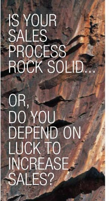 Is your #sales process rock-solid, or do you depend on luck to make sales?  #virtual #salestraining #smallbusiness