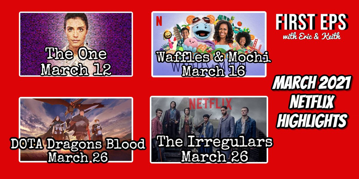 Some of the #tvshows we're looking forward to on #Netflix this month! #Dota #WafflesAndMochi #TheOne #theirregulars