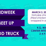It's Wednesday, and that means it's time for the Midweek Meet Up Food Truck! 🚚 Students: join us this afternoon for hotcake chicken tacos (fried chicken tenderloin wrapped in a fluffy pancake!) 🍗🥞 See you from 3-4 p.m. at the R.G. Wanek Center Intersection! #HPU365