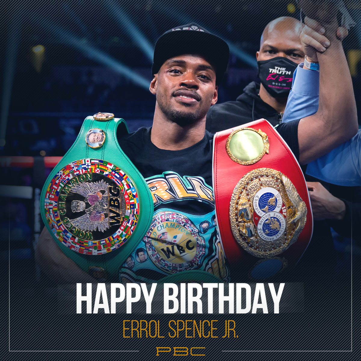 LIKE & RETWEET to wish Unified World Welterweight Champion @ErrolSpenceJr a Happy Birthday! #TeamSpence #PBCBirthdays