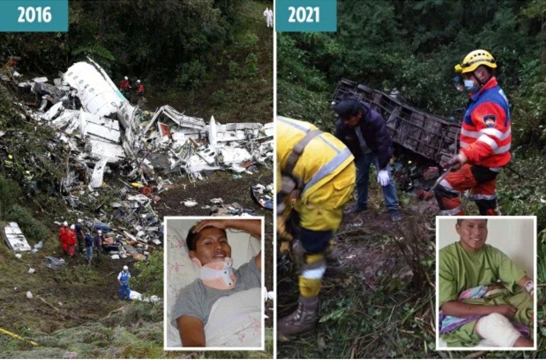 Erwin Tumiri: Chapecoense plane crash survivor avoids death again in bus  crash which killed 22 people; shares horror story » GhBase•com™