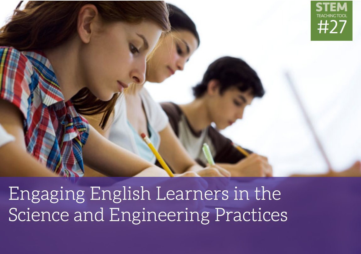 How can you remove the language barriers to accessing science in your setting?  How can you support comprehension by connecting new content to the prior knowledge of students? https://t.co/2xANPJc3Vw #NGSS #SciEd #ELL #ELLchat https://t.co/wgrvzD6jMD