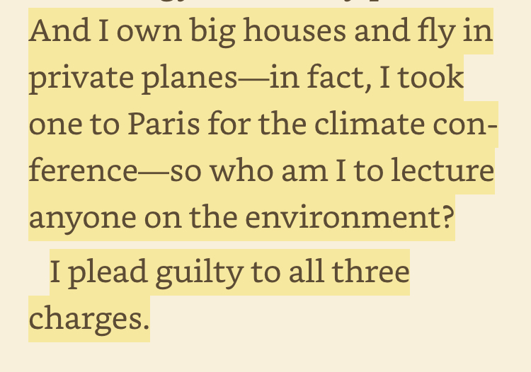 OK. At least Bill comes out clean on this one. Any other climate leader ready to state this openly?