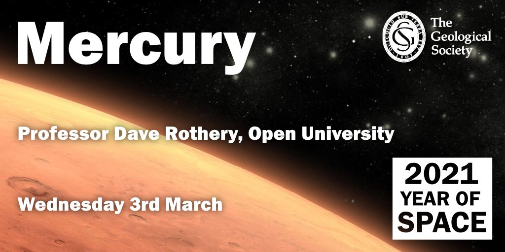Catch our next #YearOfSpace lecture Mercury with Professor @daverothery of @OpenUniversity Streaming LIVE in ten minutes at the link below 📺 ow.ly/ziSY50DO5H9