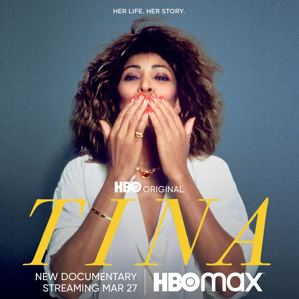My life. My story. I am thrilled to share the official US #TinaFilm artwork! Premieres March 27 on @hbomax