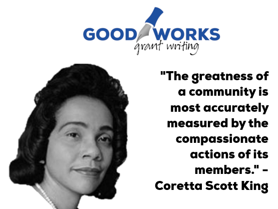 "In the words of #CorettaScottKing, ""The greatness of a community is most accurately measured by the compassionate actions of its members."" As a company exclusively serving #nonprofits, Good Works is fortunate to be at the epicenter of community greatness in Arizona (1/2)..."