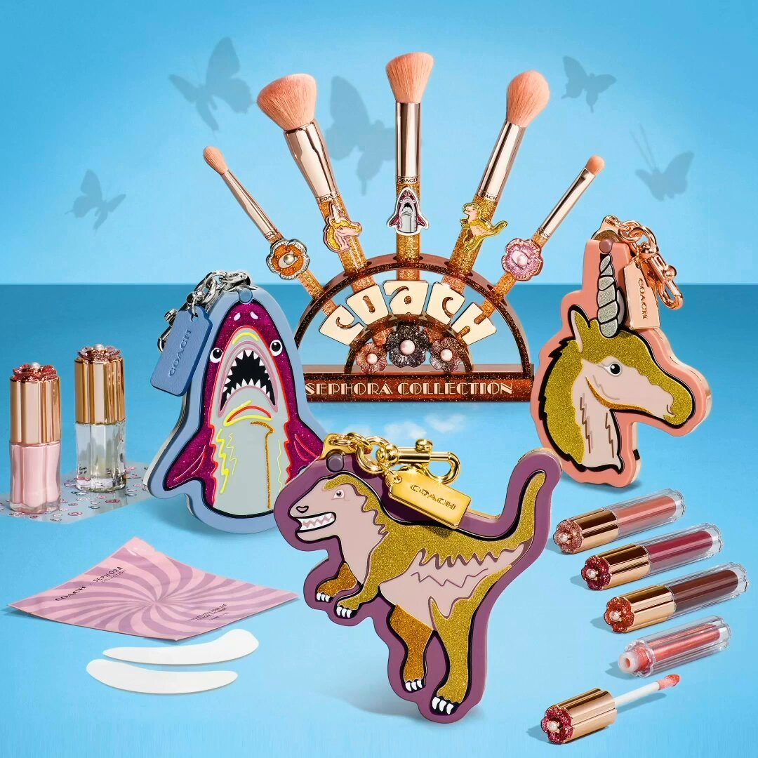 A dinosaur, a shark, and a unicorn walk into a Sephora—this new collab from @coach x Sephora Collection is no joke 🦖🦈🦄Don't sleep on this limited-edition, expertly crafted beauty from two iconic brands 💕