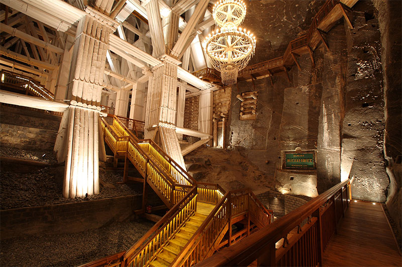 Wieliczka Salt Mine, Poland. Human beings dug this.