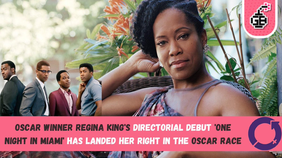 Happy #WomensHistoryMonth 🎉  Today we celebrate Oscar winner Regina King! 🙌🏻  She was a knockout in #Watchmen and now her directorial debut #OneNightinMiami has landed her in the Oscar race 👏🏼  #GeekBombIWM #IWD2021