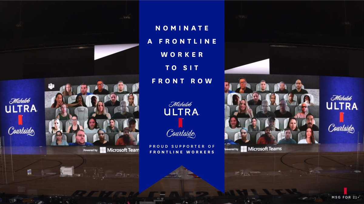 We believe that frontline workers have been the real all-stars this year. That's why we have a few #ULTRACourtside virtual fan seats reserved for them #NBAAllStar. Tag a deserving frontline worker below and we might give them a seat.