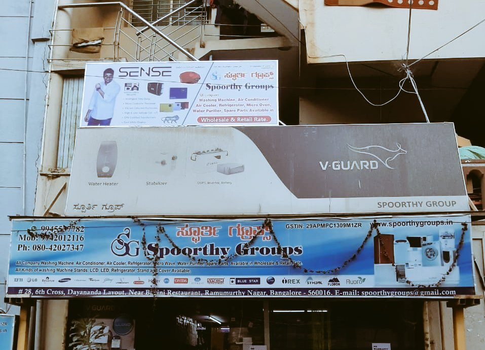 Banner Promotion s in Bangalore by our C&F @chachi_dir @actorsathish @Suriblr07Suresh Thanks to Marktech