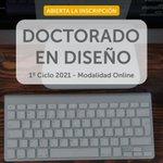 Image for the Tweet beginning: Conocé el Doctorado en #Diseño