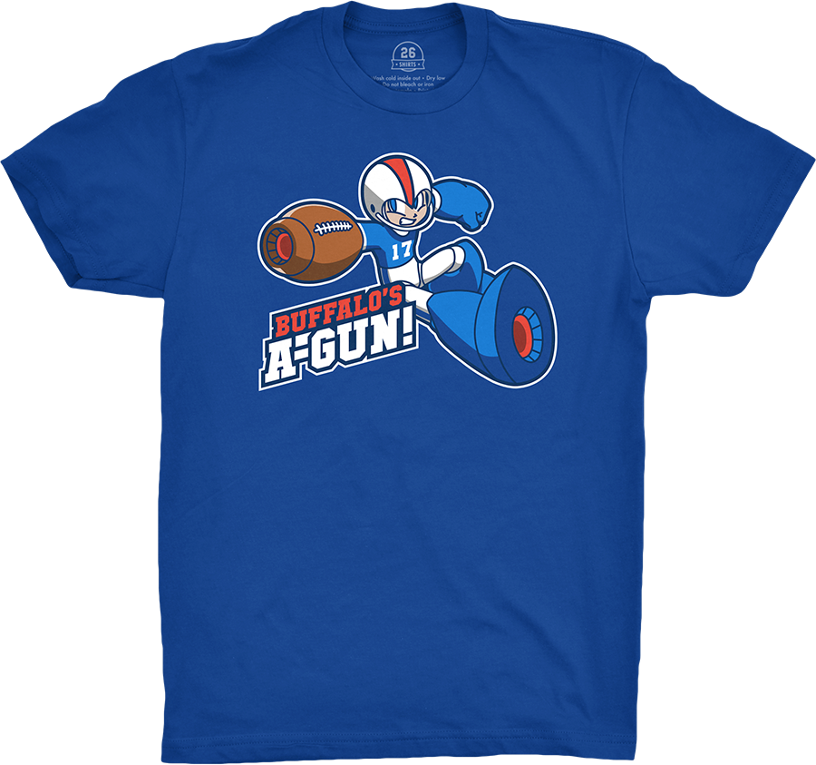 """We exist TO HELP! Order our exclusive """"Buffalo's A-Gun"""" design now through March 14th and help us help Ralph Esten. You can learn more, and pick up a shirt to help, at . Presented by @ValuHomeCenters #BillsMafia #Buffalo"""