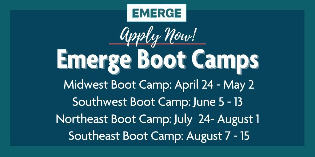 This country gets better when more Democratic women have a seat at the table and a say in the policies that govern our lives.  If you're running for office or thinking about it, join @EmergeAmerica for one of four virtual boot camps.
