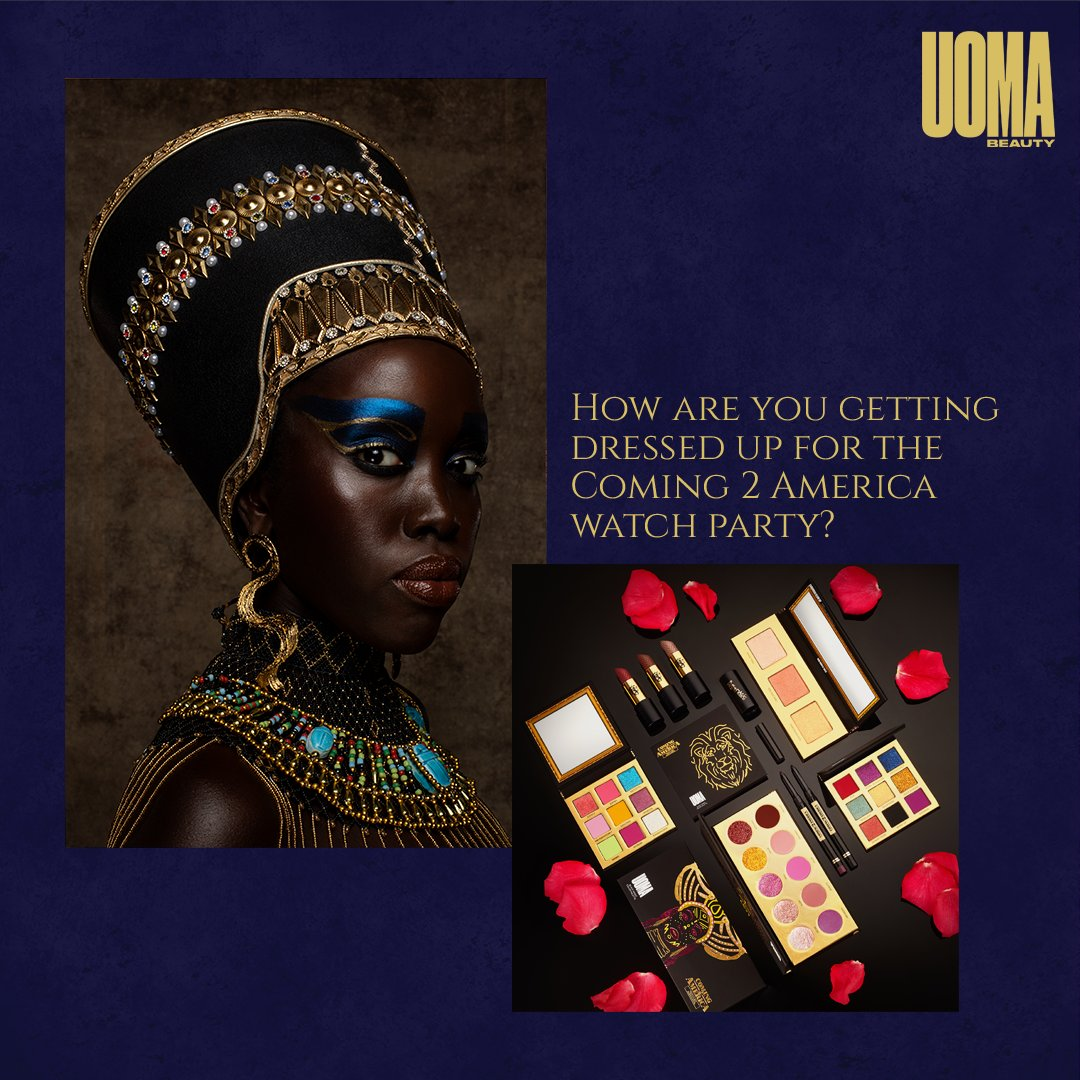 Getting dressed up for the watch party? Post a pic of your look, tag @zamundaroyals @uomabeauty & #Coming2America #sweepstakes for a chance to win an UOMA Beauty kit (ARV: $234.00)! Ends 9AM PT 3/6 NoPurchNec USonly 18+. See rules: . We will DM the winners.