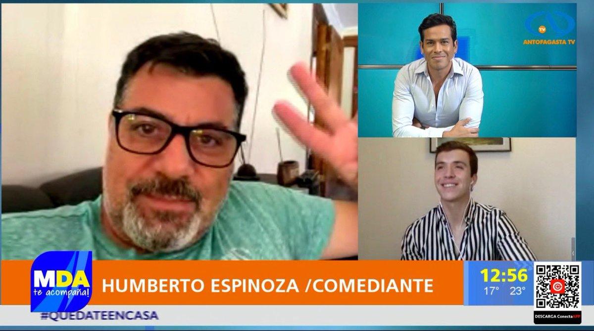 """Hoy tuvimos la gran visita virtual del tremendo actor y comediante,  Humberto """"Beto"""" Espinoza. @bebetoshupeta  SoS un grande master, gracias por tu humildad y entendida charla. @AntofagastaTV #Antofagasta #matinal #PautaLibre #artistas"""