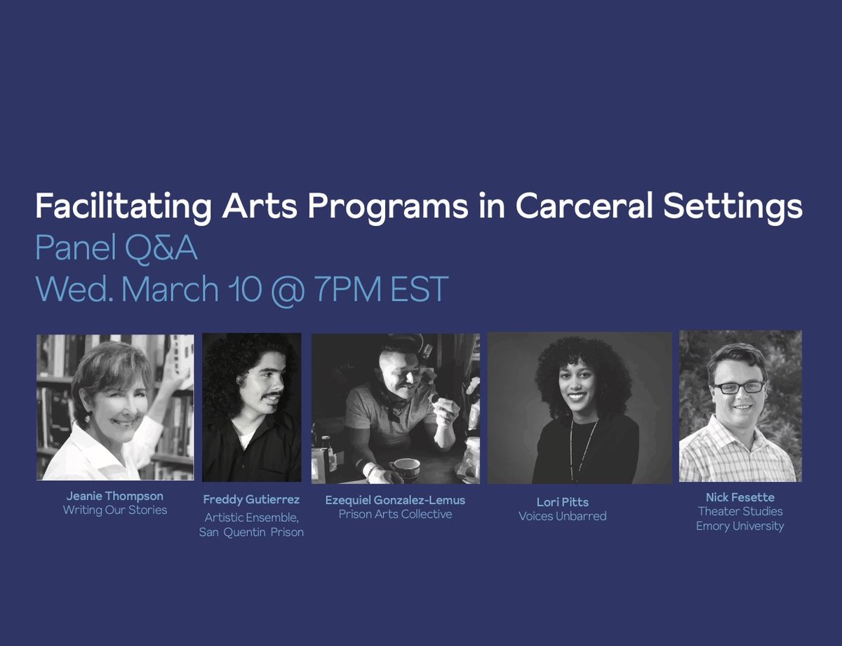 Join JAC next Wednesday, 3/10, at 7PM EST for a panel discussion and Q&A exploring the ins and outs of operating arts programs inside carceral settings.Register here: eventbrite.com/e/facilitating…