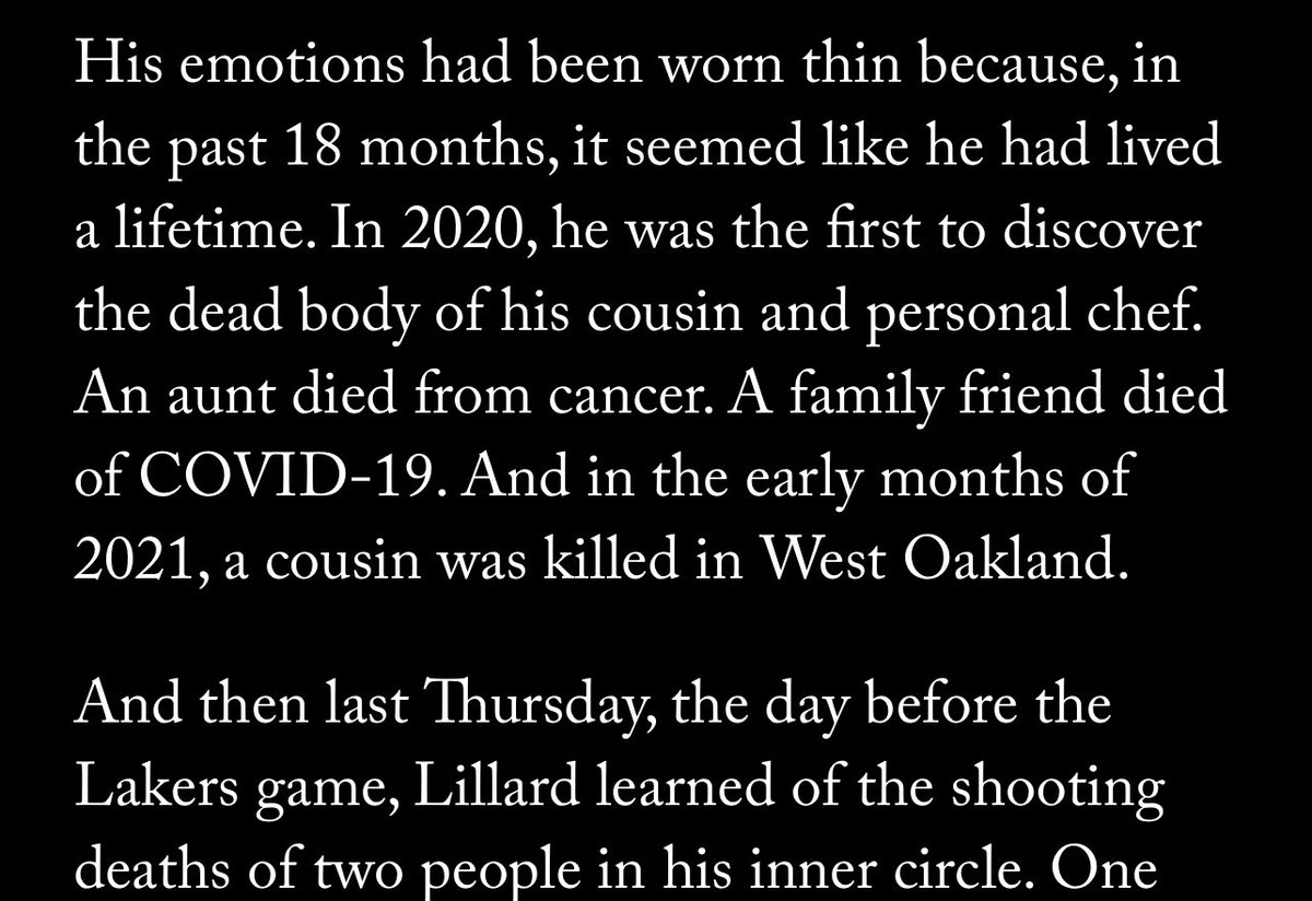 Prayers out to Damian Lillard. This is insane   (Via  https://t.co/EIbpSvAOMi ) https://t.co/N3M3gP3er1