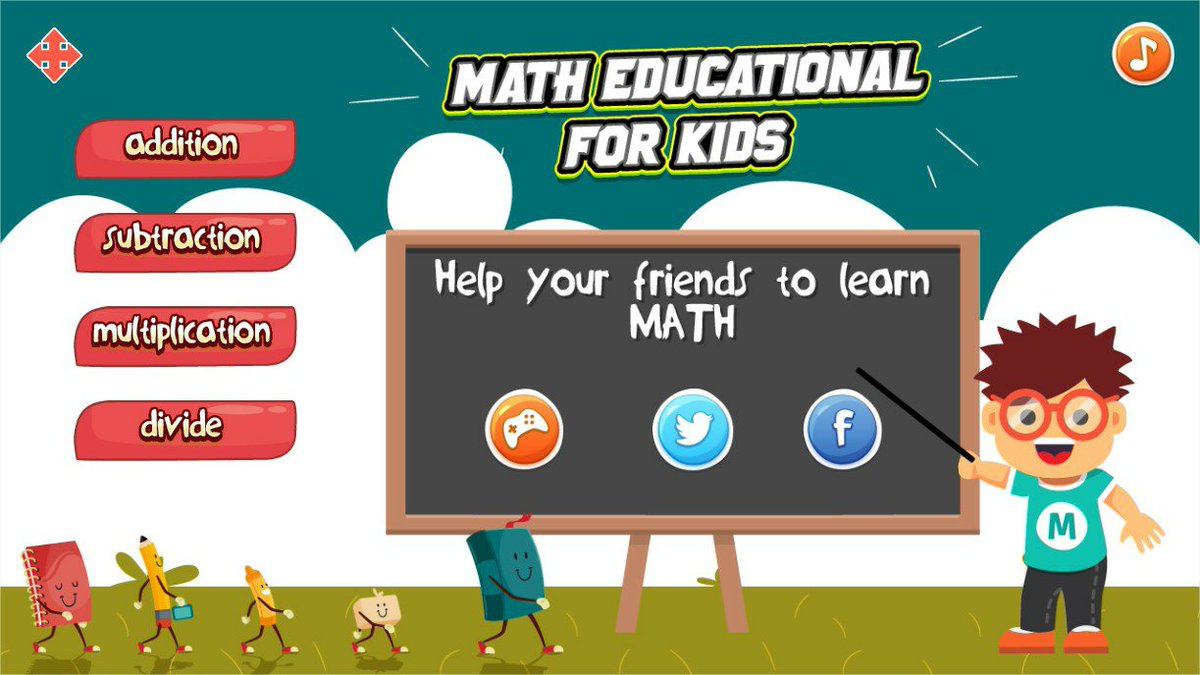 Math Education for kids helps kids learn math easily. This game includes addition, subtraction, multiplication and division.  #edtech #education #homeschool #TKC   Click to assess the child => https://t.co/2tdyw9Z0xW https://t.co/fRSIW4XlPh