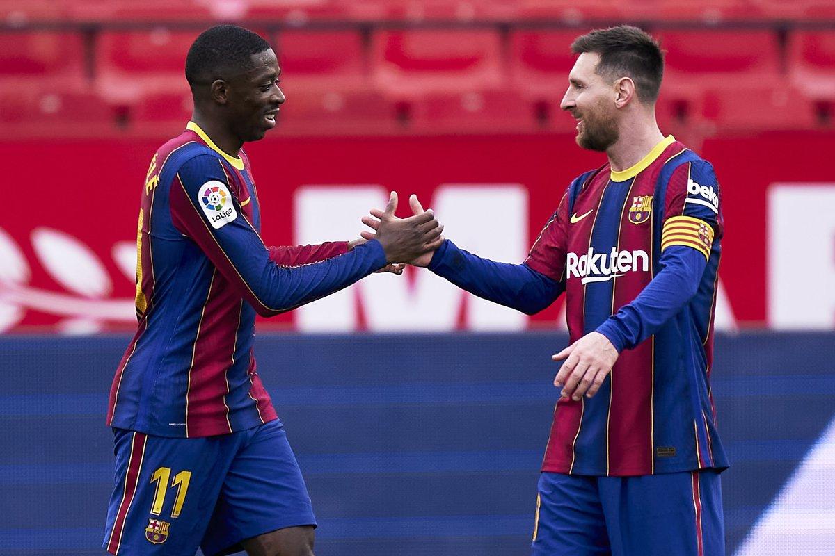 Saturday: Sevilla 0-2 Barca  Wednesday: Barca 3-0 Sevilla https://t.co/4cGynTukO2