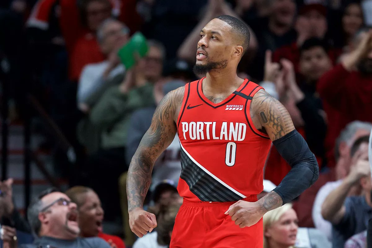 Damian Lillard has lead the third worst defense in league history to 9th best record in the league without second and third best player.   Greatness https://t.co/jqYjCx52d4