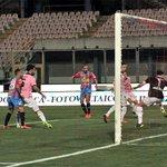 Image for the Tweet beginning: Catania-Palermo 0-1, Santana sentenzia gli