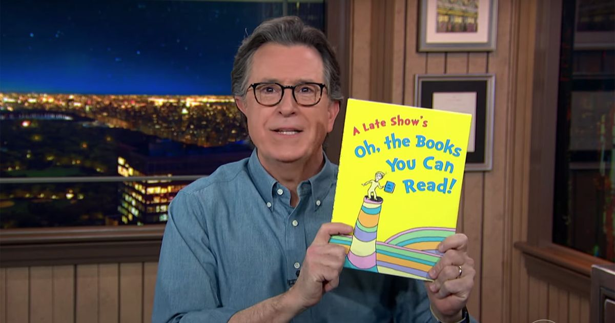 Stephen Colbert has a poem for anyone angry about those racist Dr. Seuss books being pulled