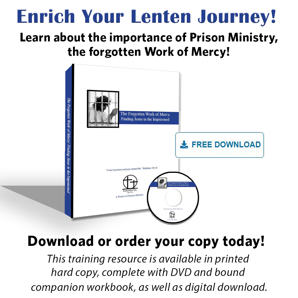 Enrich your Lenten Journey! Learn about the importance of Prison Ministry, the forgotten Work of Mercy! Download or order your hard copy today at   #lent #free #freedownload #lentenjourney #Catholic #fwom #forgottenworkofmercy #workofmercy #mercy #prison