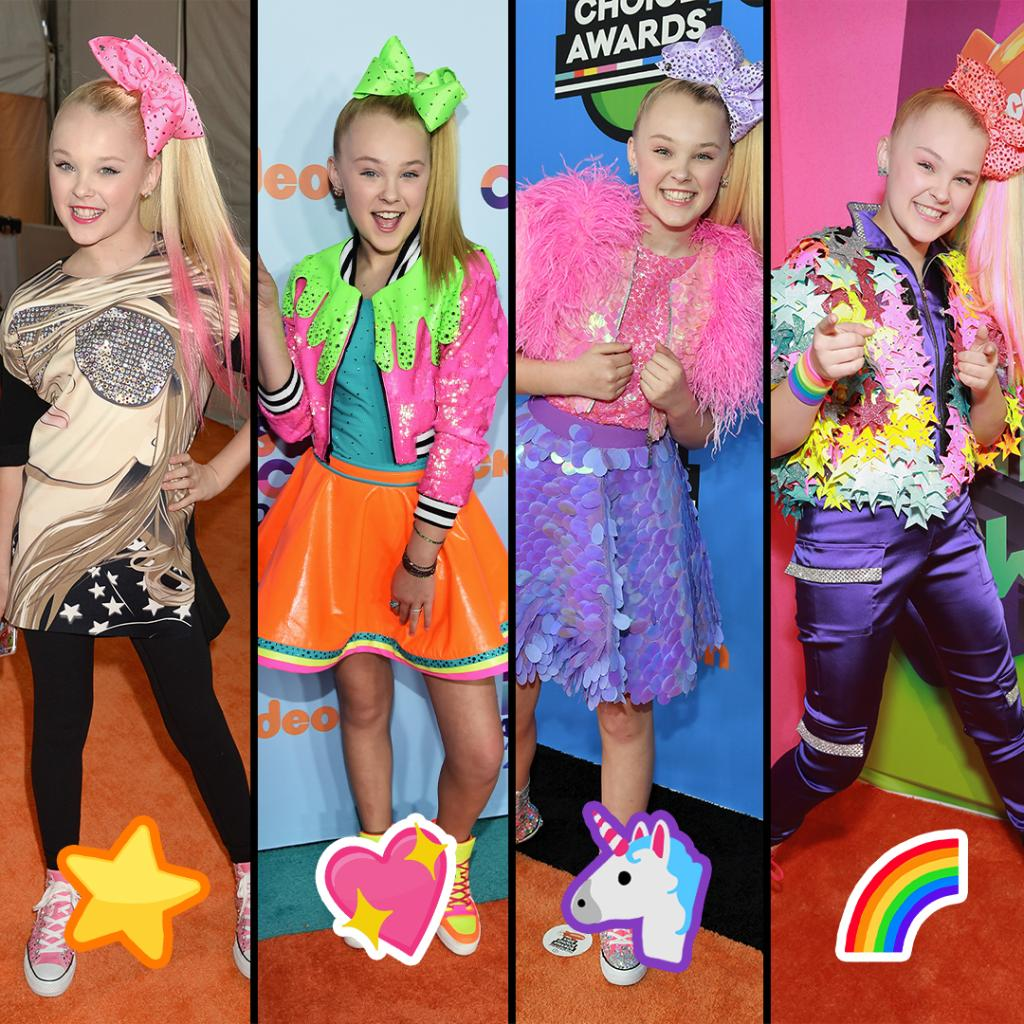 which @itsjojosiwa #KCA orange carpet look is your favorite?