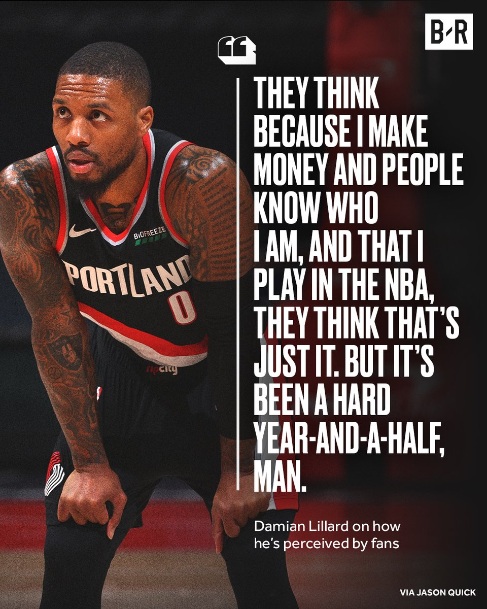 Over the last 18 months, Dame has had to deal with the deaths of six family members and close friends while staying focused on the court 🙏  (via @jwquick) https://t.co/hjm2Dn5syD