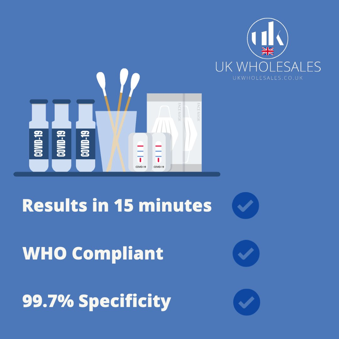 Keeping business', schools, nurseries, and healthcare staff equipt, from £3.25 order online today.  Test queries? Contact us through our website and we will be happy to resolve any queries or problems.  #stayprotected #covidtestkits #lateralflowkits #covidvaccination  #healthcare