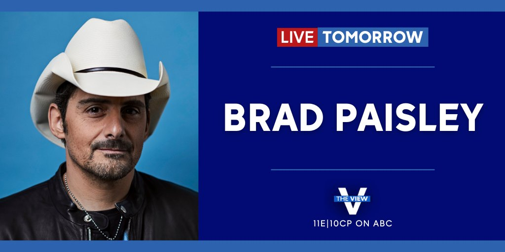 TOMORROW: Country superstar @BradPaisley joins us LIVE to share his musical mission to ease the anxiety of the pandemic and perform his latest hit single#OffRoad!