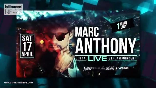 "Replying to @billboard: Marc Anthony will perform during a ""One Night Only"" livestream concert. #BillboardNews"