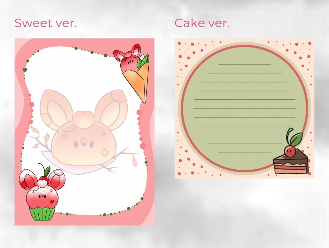 Product drop  ೄྀ࿐ ˊˎ-  What is your favorite #notepad between the #Sweet and the #Cake ones??   Available in my earrings & stationery update > March 10th, 8pm CET (Paris time)  #MoonBunProductPic