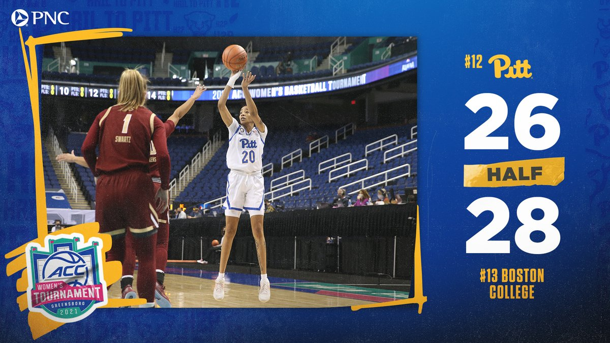 HALF  Panthers end the half on a 13-0 run to get within TWO at the break!  Jayla Everett is in the ZONE for Pitt as she leads the way with 13 points.  #H2P // #GoBeyond https://t.co/cSN3petaDf