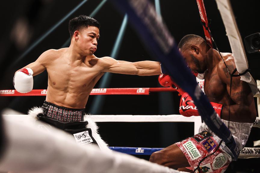 Knockout artist @Brandun_Lee looks to extend his impressive KO streak to 13 when he faces Samuel Teah in ONE WEEK on #ShoBox 👀