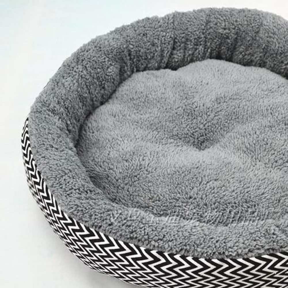 #dog #pets Geometric Pattern Round Dog Bed