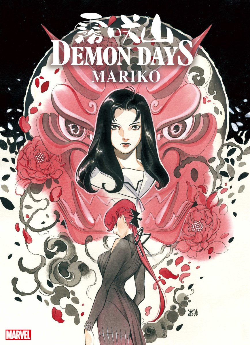 """#MarvelStormbreakers artist @peachmomoko60 transforms Black Widow, Nightcrawler, and more in """"Demon Days: Mariko"""" #1, coming this June!   Read more about the next chapter in the """"Demon Days"""" saga here:"""