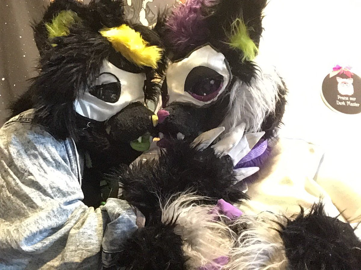 POG furry moment! My bf Hayden made fursuits for me and our other bf , but this is me and him just vibing!!!! #furry #fursuit
