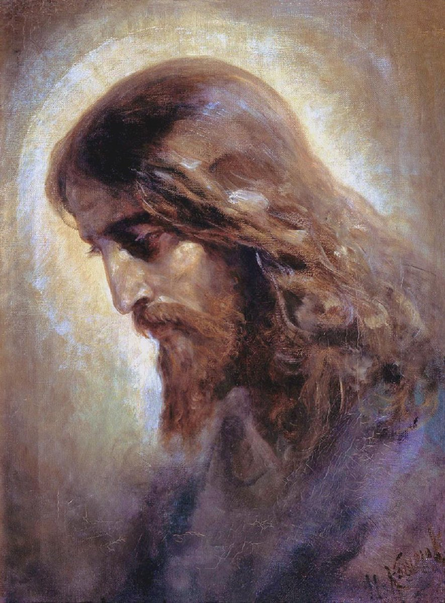 Let the dead enter into your glory; let them praise you for ever.  ~ Lord, bless your people.  #Vespers #EveningPrayer #PrayersfortheDead #Prayer #Lent #LentenSeason  The Head of #Christ by Nikolai Koshelev