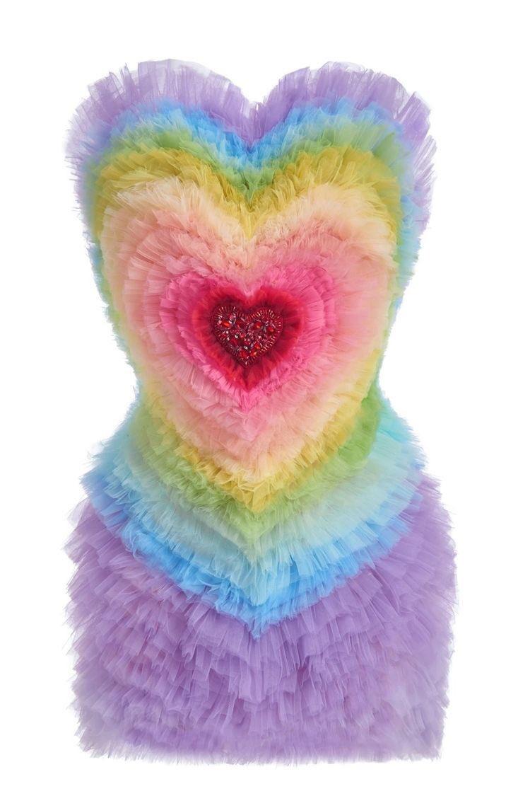 lirika matoshi rainbow heart dress