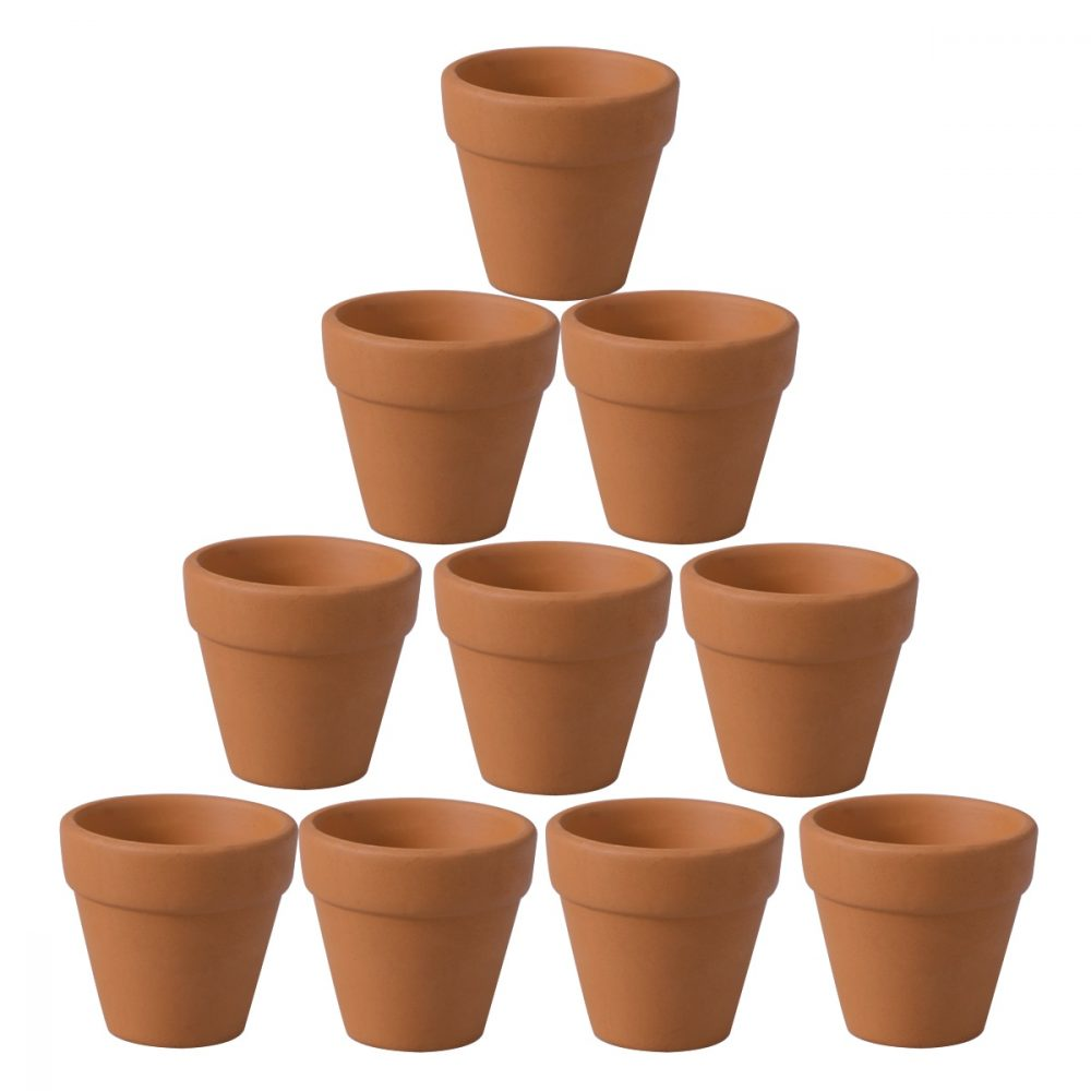 WINOMO 10Pcs 4.5x4cm Small Mini Terracotta Pot Clay Ceramic Pottery Planter Cactus Flower Pots Succulent Nursery Pots  #fashion|#tech|#home|#lifestyle
