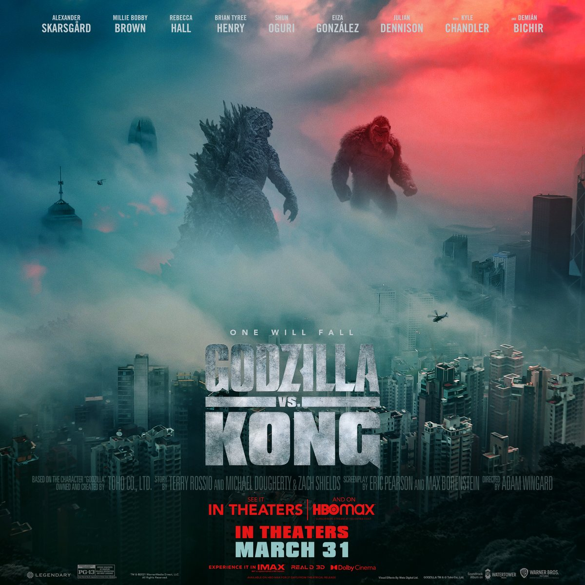 In this epic battle of monsters, who will come out on top? Godzilla vs. Kong is in theaters and streaming exclusively on HBO Max March 31 at 12:01 am PT/3:01 am ET.