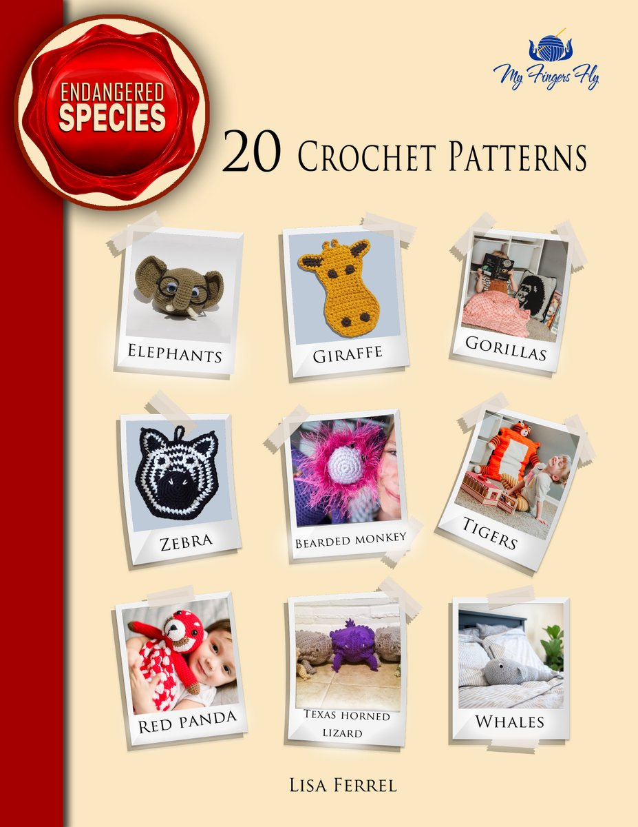 20 Endangered Species crochet patterns for only $7.50 for #WorldWildlifeDay   via @Etsy #WorldWildlifeDay2021 #etsy