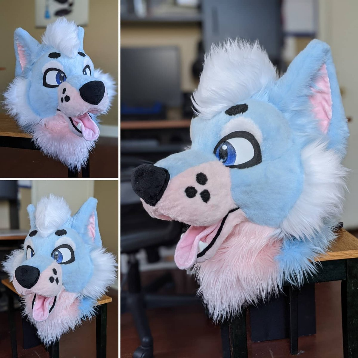 This cutie is officially for sale! Details can be found on my IG!  #fursuitsforsale #fursuitforsale #furryfandom #fursuits #fursuit #furries #fursuiting #fursuitmaker