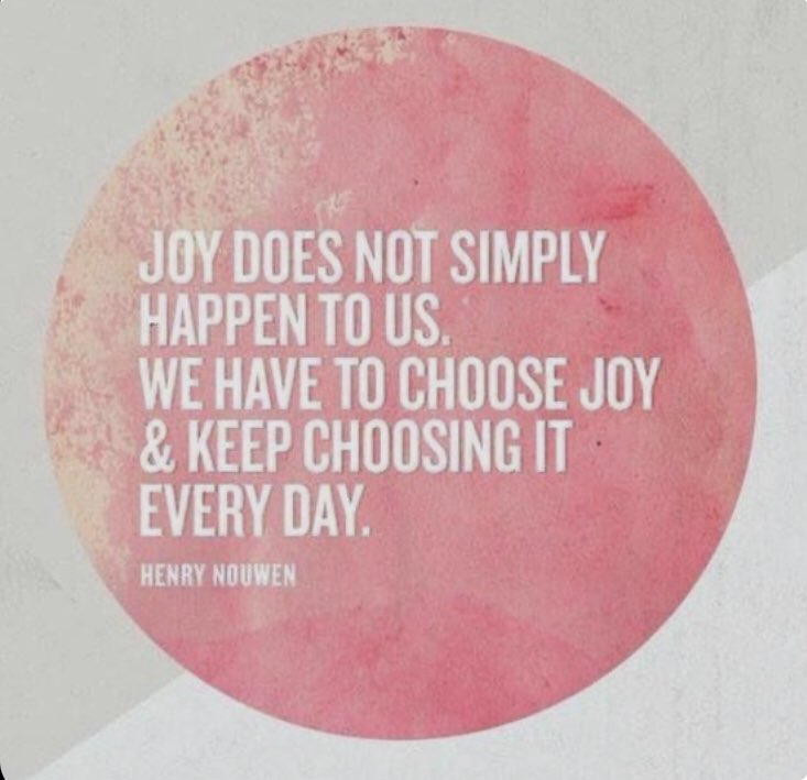 Joy is a decision about how we are going to respond to life. Today I'm #choosingjoy on my #lentenjourney